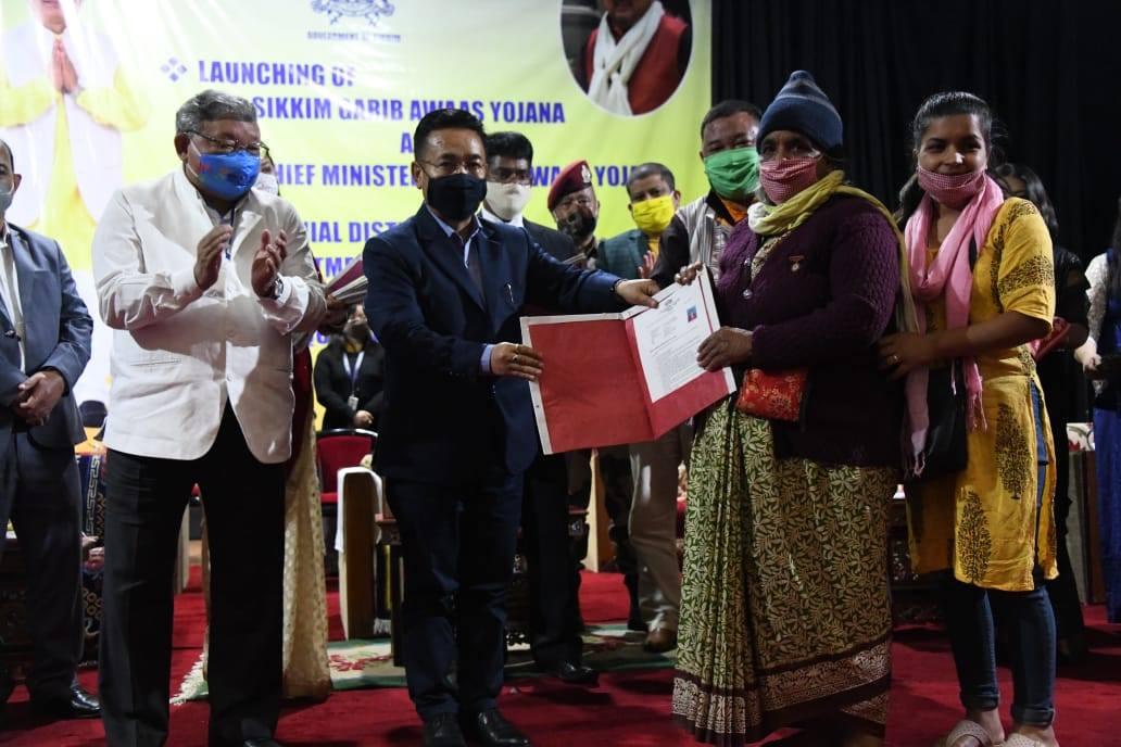 Launch of Sikkim Garib Aawas Yojana